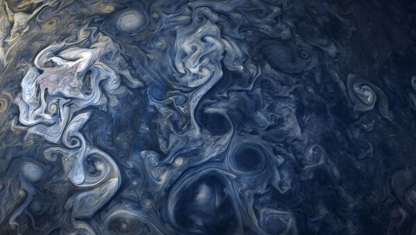 Fotografie mraků na severní polokouli Jupiteru - Sputnik Česká republika