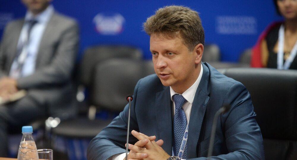 Ruský ministr dopravy Maxim Sokolov