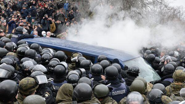 Protestující v Kijevě - Sputnik Česká republika