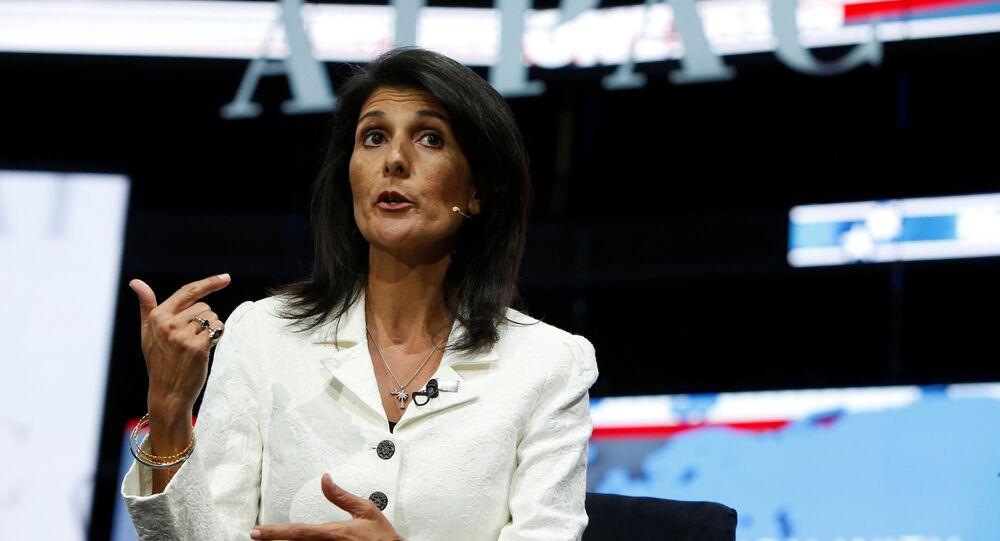 Stálá zástupkyně USA při OSN Nikki Haleyová