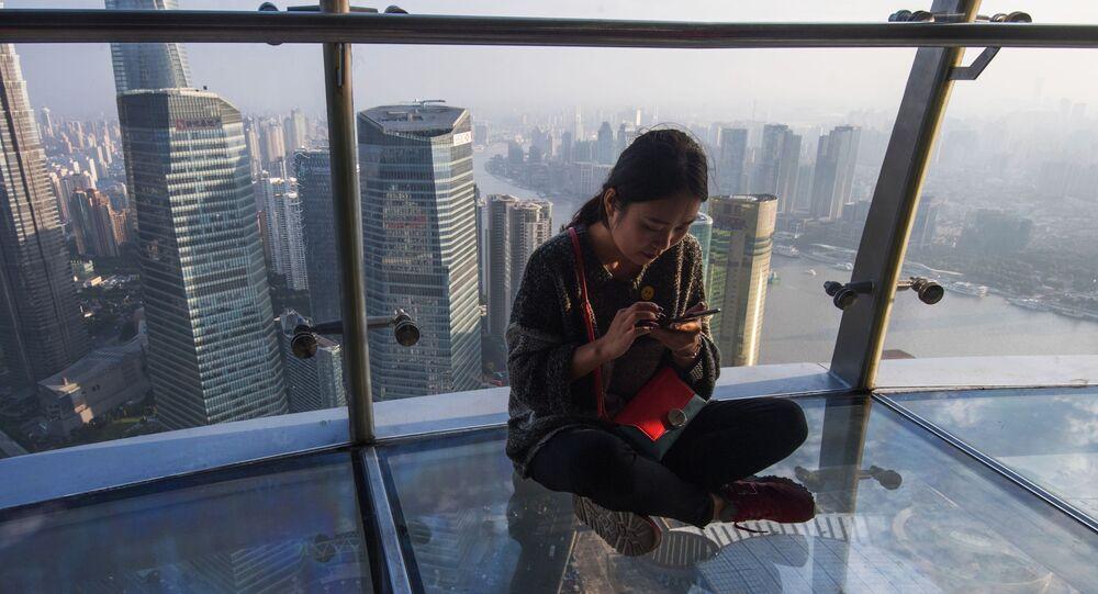 Rozhledna na mrakodrapu v Šanghaji