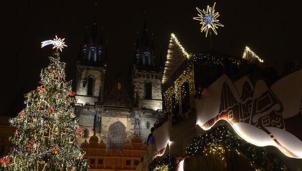 Vánoční Staroměstské náměstí v Praze  - Sputnik Česká republika