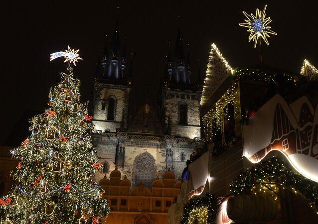 Vánoční Staroměstské náměstí v Praze