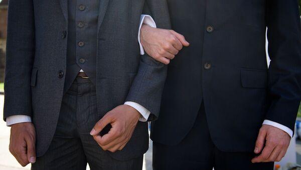 Mítink za stejnopohlvní sňatky v Londýně - Sputnik Česká republika