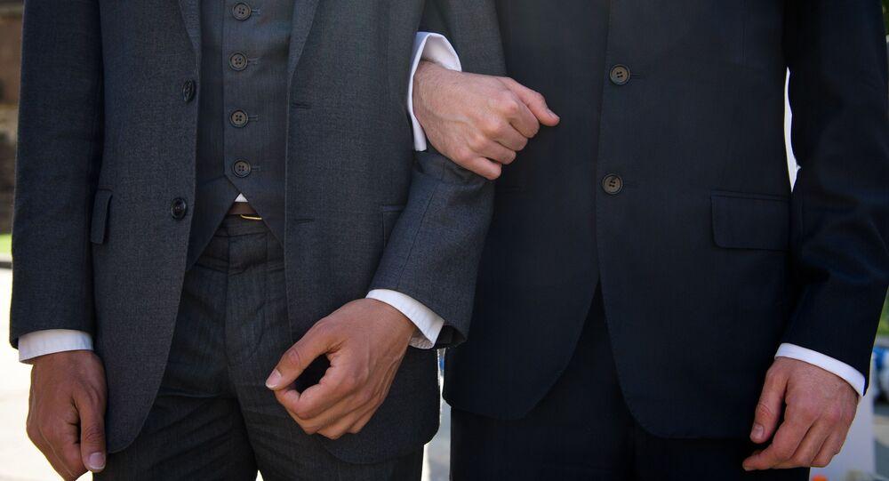 Mítink za stejnopohlvní sňatky v Londýně