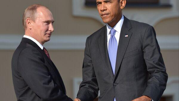 Vladimir Putin a Barack Obama - Sputnik Česká republika