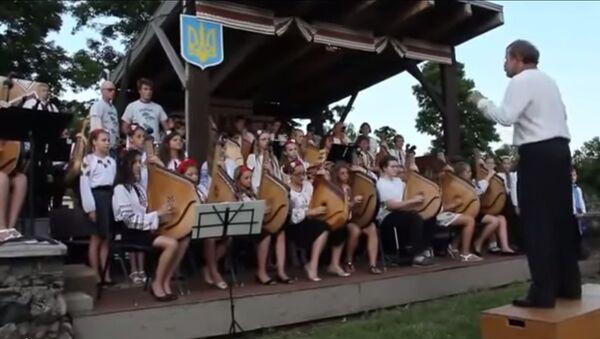 """Ukrajinské děti zpívají """"Hymnu bojovných ukropů"""" - Sputnik Česká republika"""