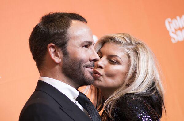 Designér Tom Ford a zpěvačka Fergie na dobročinném večírku TrevorLIVE v Los Angeles, USA - Sputnik Česká republika