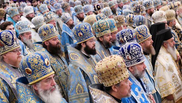 Liturgie v katedrále Krista Spasitele v Moskvě - Sputnik Česká republika