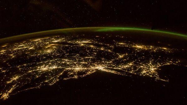 Panoramatická fotografie polární záře - Sputnik Česká republika