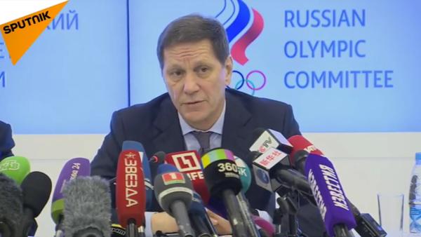 Tisková konference ruského olympijského výboru po poradě ohledně zákazu MOV - Sputnik Česká republika