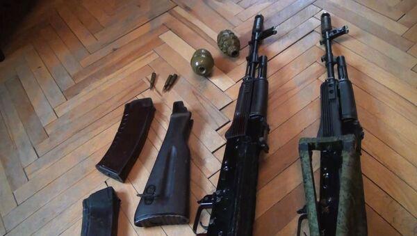 Zbraně zabavené FSB teroristům - Sputnik Česká republika