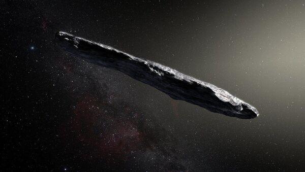 Umělecká podoba planetky Oumuamua - Sputnik Česká republika