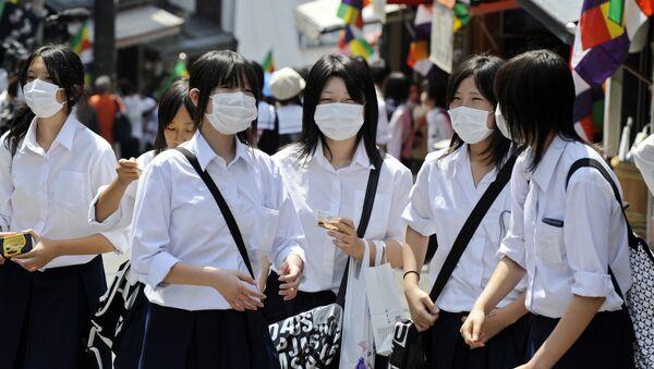 Japonské žákyně. Ilustrační foto - Sputnik Česká republika