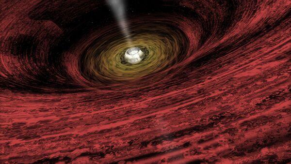 Umělecká podoba černé díry - Sputnik Česká republika