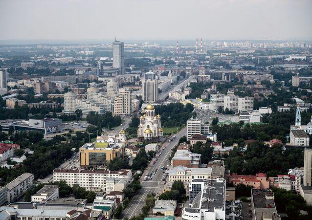Pohled na Jekatěrinburg