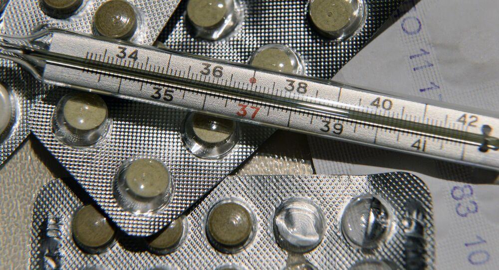 Léky a teploměr