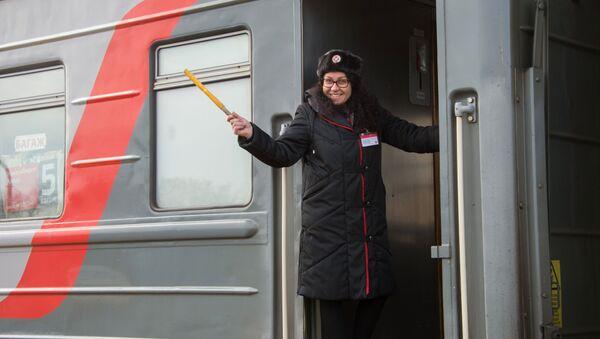 Průvodčí v ruském vlaku. Ilustrační foto - Sputnik Česká republika