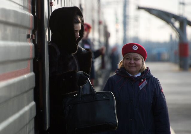 Vlak v Rostovské oblasti