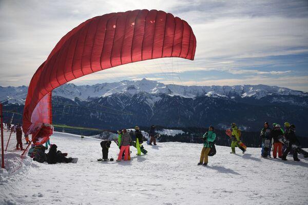 Zahájení sezóny v lyžařském středisku Roza Chutor - Sputnik Česká republika