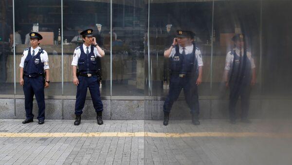 Japonští policisté v Tokiu - Sputnik Česká republika