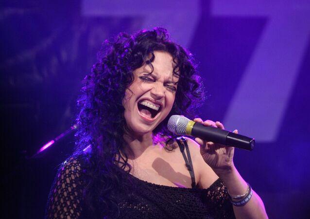 Česká zpěvačka Lucie Bílá.