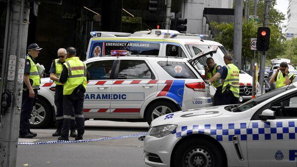 Police na místě incidentu v Melbourne - Sputnik Česká republika