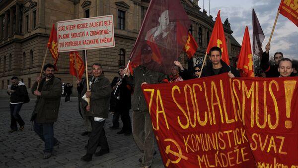 Mítink komunistů v Praze - Sputnik Česká republika