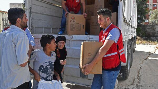 Humanitární pomoc v Sýrii. Ilustrační foto - Sputnik Česká republika