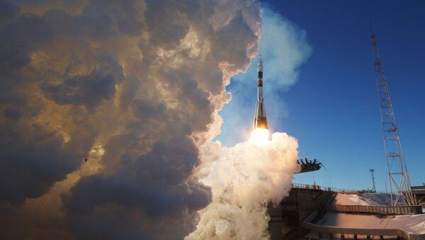 Start nosné rakety Sojuz-FG. Archivní foto - Sputnik Česká republika