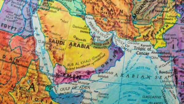 Mapa Blízkého východu - Sputnik Česká republika