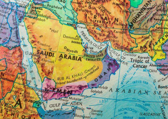 Mapa Blízkého východu