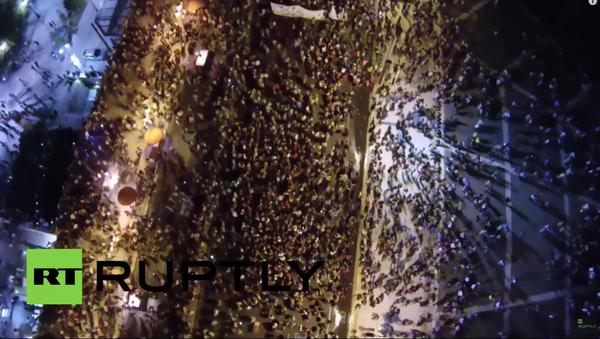 Řecko: krásné záběry oslav výsledků referenda ze vzduchu - Sputnik Česká republika