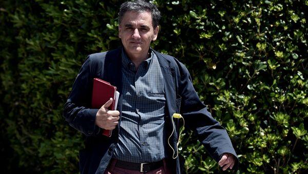 Řecký ministr financí Euclidis Tsakalotos - Sputnik Česká republika