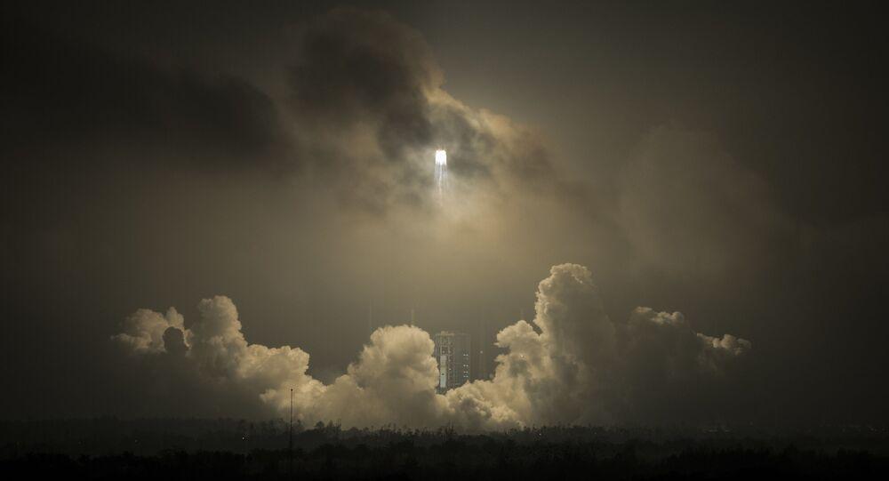 Ilustrační foto. Vypuštění rakety v Číně