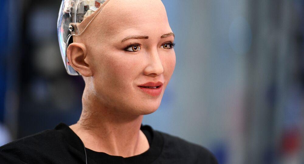 Robot Sofia. Ilustrační foto