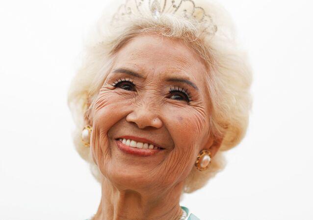 Ma Jing, 78letá účastnice soutěže krásy v Číně