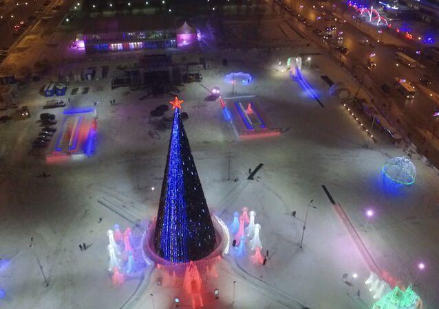 Největší ledový park v Rusku