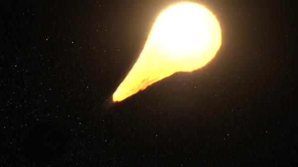 Černá díra trhá hvězdu na kusy - Sputnik Česká republika
