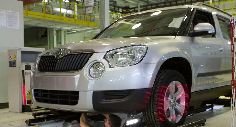 Výroba automobilu Škoda Yeti v Gorkovské automobilce