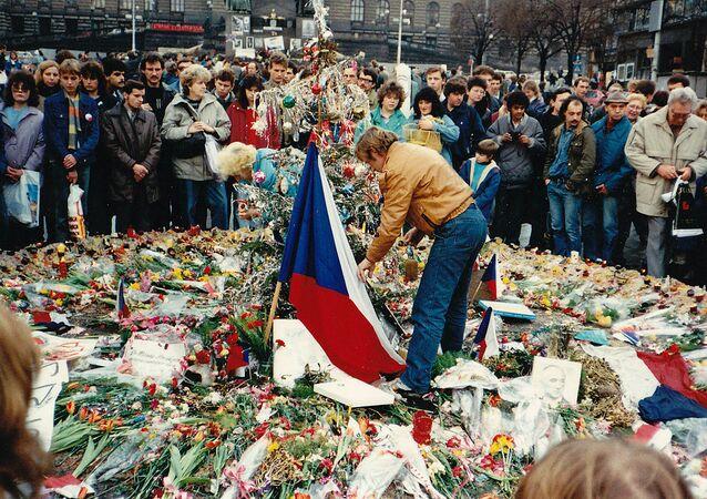 Protesty proti rozpadu Československa