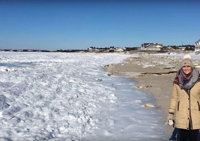 "Američan natočil na video ""zamrzlý"" oceán"