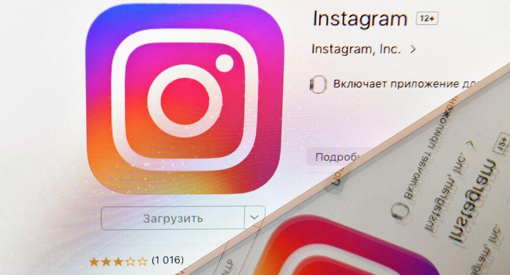 Ikonka sociální sítě Instagram