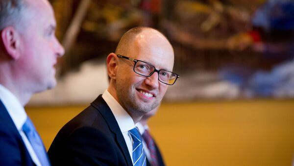 Předseda ukrajinské vlády Arsenij Jaceňuk - Sputnik Česká republika