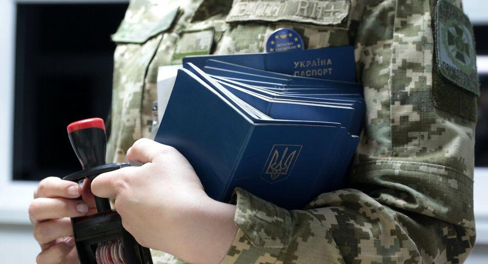 Pracovnice ukrajinské pohraniční služby