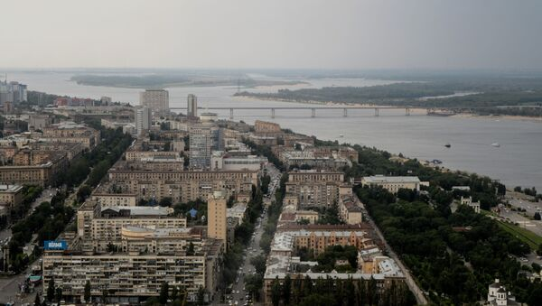 Pohled na Volgu a Volgograd - Sputnik Česká republika