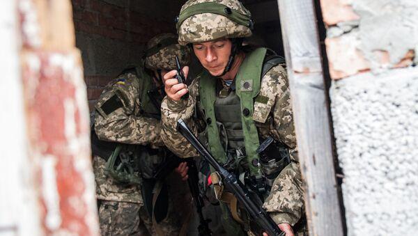 Ukrajinští mariňáci během cvičení - Sputnik Česká republika
