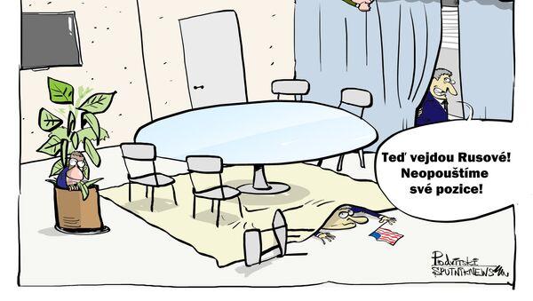 Američané se v Davosu schovali před ruskou delegací - Sputnik Česká republika