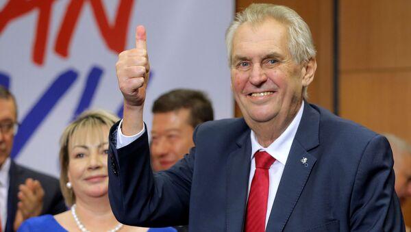 Prezident Miloš Zeman po vítězství ve volbách - Sputnik Česká republika