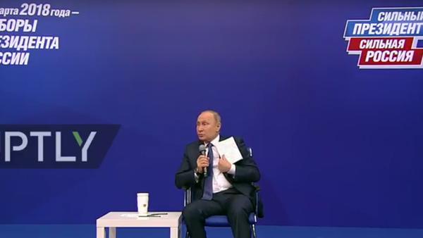Setkání Putina s agitátory - Sputnik Česká republika
